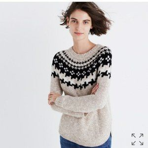 Madewell Diftweave Pullover Fair Isle Sweater